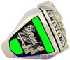 """Picture of 2003 New England Patriots """"Super Bowl XXXVIII"""" Champions 14K White Gold, with Diamonds, Player's Ring"""