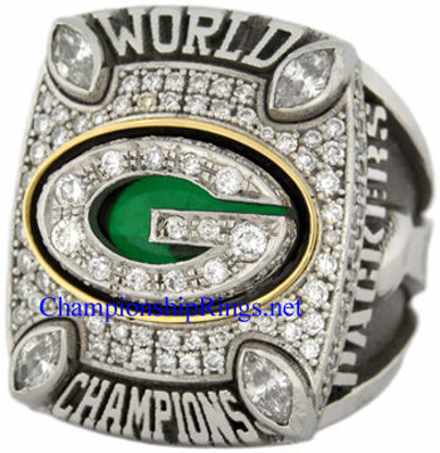 """Picture of 2010 Green Bay Packers """"Super Bowl XLV"""" Champions Platinum, with Diamonds, Player's Ring and Original Wood Presentation Box"""