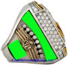 """Picture of 2015 Denver Broncos """"Super Bowl 50"""" Champions 10K White Gold, with Diamonds, Player's Ring"""