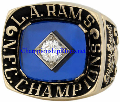 """Picture of 1979 Los Angeles Rams """"N.F.C."""" Champions 10K Gold and Diamond Player's Ring"""
