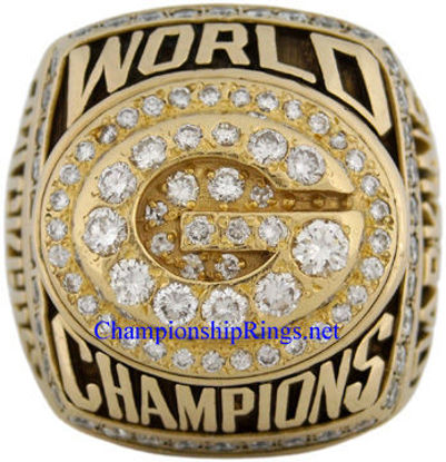"""Picture of 1996 Green Bay Packers """"Super Bowl XXXI"""" Champions 10K Gold, with Diamonds, Player's Ring"""