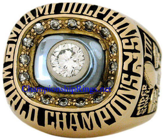 """Picture of 1972 Miami Dolphins *PERFECT SEASON* """"Super Bowl VII"""" Champions 14K Gold and Diamond Staff Member's Ring"""