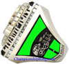 """Picture of 2007 San Jose SaberCats """"A.F.L. 3-X World Champions"""" 14K White Gold, with Diamonds and Emeralds, Player's Ring"""