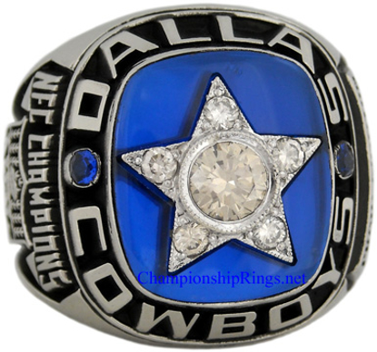 "Picture of 1970 Dallas Cowboys ""N.F.C."" Champions 10K White Gold Gold, with Diamonds, Player's Ring"