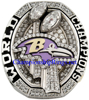 "Picture of 2012 Baltimore Ravens ""Super Bowl XLVII"" Champions 14K White Gold, with Diamonds, Player's Ring and Original Presentation Box"